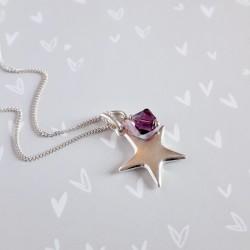 Birthstone Pendant - Star