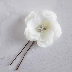 Ivory Rose Hair Pin -...