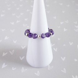 Amethyst Beaded Ring