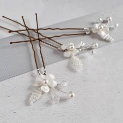 Flora Hair Pins - flower...