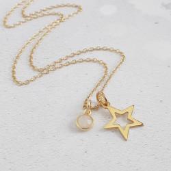 Moonstone Star Pendant