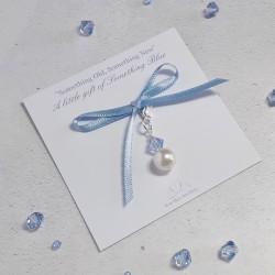 Something Blue Pearl Charm