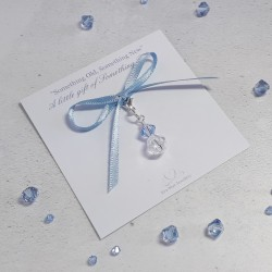Something Blue Crystal Charm