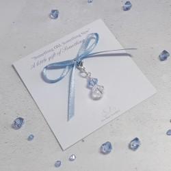 Something Blue Crystal Charm