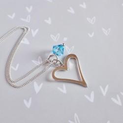 Birthstone Pendant - Heart