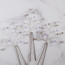 Violet Hair Pins - set of...