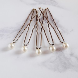 Mary Pearl Hair Pins - 6mm