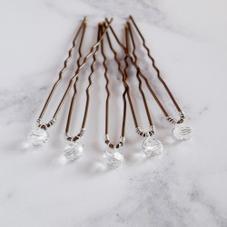 Mary Crystal Hair Pins - 6mm