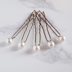 Mary Pearl Hair Pins - 8mm