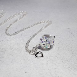 Swarovski and Heart Charm...