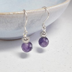 Sweetheart Earrings - Amethyst