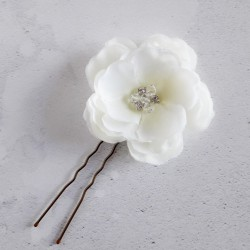 Ivory Rose Hair Pin -...