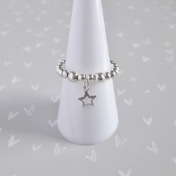 Silver Star Charm Ring