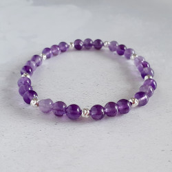 Silver Bead and Amethyst...