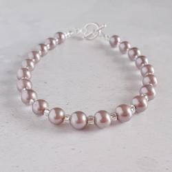 Lavender Shell Pearl Bracelet
