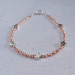 5 Star Seed Bead Bracelet -...