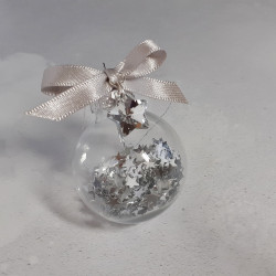 Star Charm Glass Bauble -...
