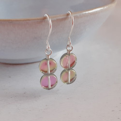 Disc Earrings - Pink Mix