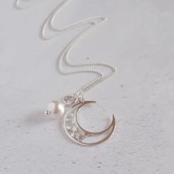 Birthstone Pendant - Moon &...