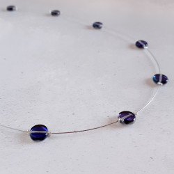 Glass Disc Necklace -...